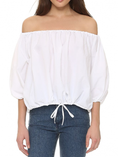 Marques' Almeida White Off-the-shoulder Blouse