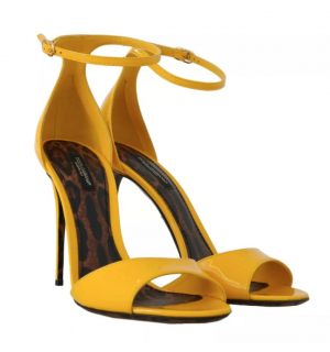 Dolce & Gabbana Yellow Patent leather Sandals