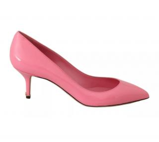Dolce & Gabbana Pink Low Heel Patent Leather Pumps