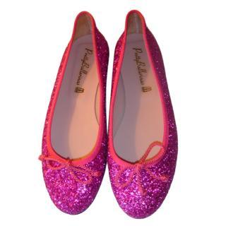 Pretty Ballerinas Pink Glitter Ballerina Flats