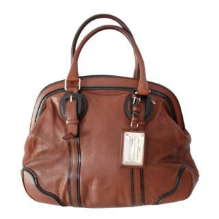 Dolce & Gabbana Brown Leather Tote Bag