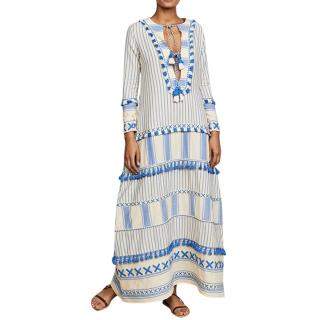Dodo Bar Or Samuelle Tassel-Trim Cotton Maxi Cover-Up