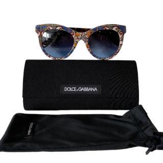 Dolce & Gabbana Majolica Print Sunglasses