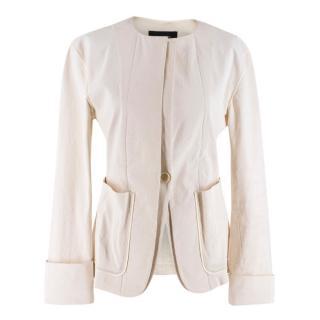 Isabel Marant Cream Cotton Blend Button Up Jacket