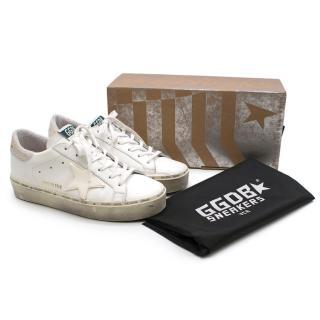 Golden Goose White Shearling LinedSuperstar Sneakers