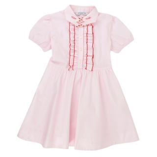 Vivetta Girls Pink Frilled hands Dress