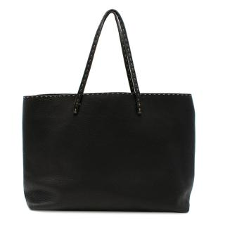 Fendi Black Selleria Leather Tote Bag