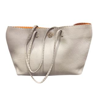 Fendi Grey leather Selleria Tote Bag