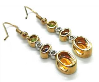 Bespoke diamond and gemstone drop earrings