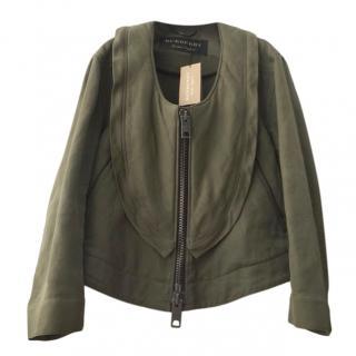 Burberry Khaki Oversized Collar Jacket