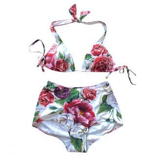 Dolce & Gabbana Pink peony print bikini