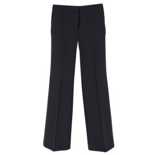 Helmut Lang Navy Wool Straight Leg Trousers