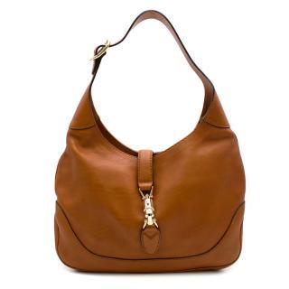 Gucci Tan Leather Hobo Bag