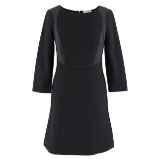 Nina Ricci Black Textured A-line Dress