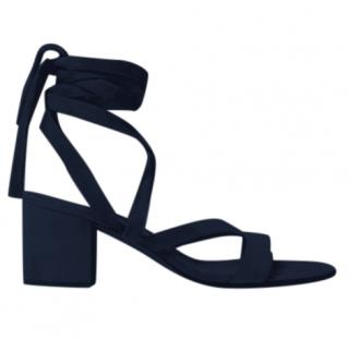 Gianvito Rossi Navy Suede Sandals