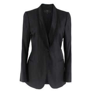 Et Vous Black Wool-Twill Blazer
