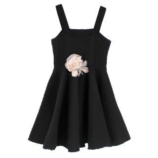 Lanvin Petite Black Textured Mini Skater Dress