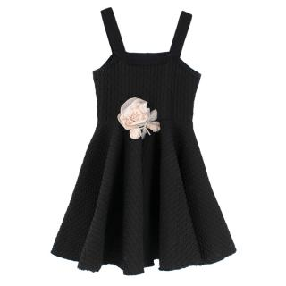 Lanvin Petite Black Textured Mini Skater Dress