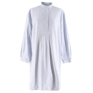 The Sleep Shirt Blue & White Striped Oxford Tunic