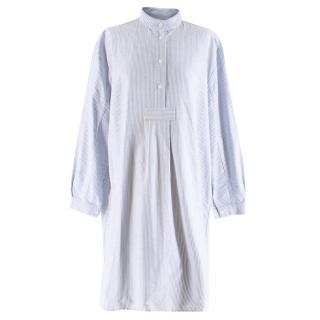 The Sleep Shirt Blue & White Striped Oxford Tunic