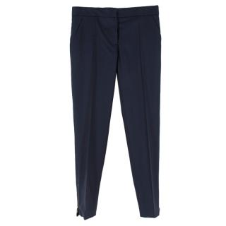 Stella McCartney Navy Wool-Twill Tailored Trousers