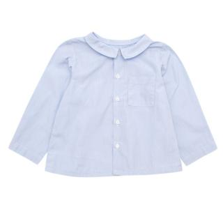 Bonpoint Boys Blue Check Long-sleeve Shirt