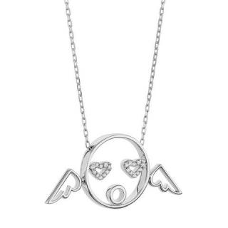 Ruifier Moyen White Gold Cupid Necklace