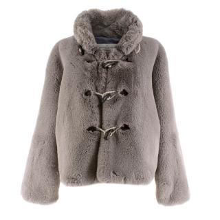 Golden Goose Deluxe Brand Grey Faux Fur Jacket