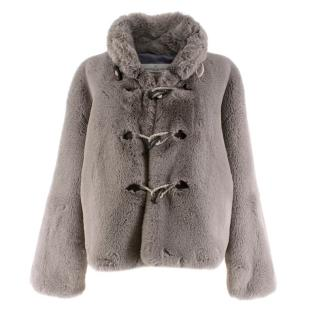 Golden Goose Deluxe Brand Grey Faux Fur Jacket