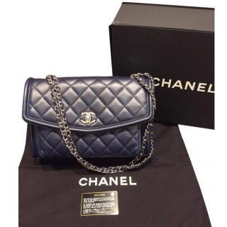 Chanel Navy Quilted Leather Shoulder Bag