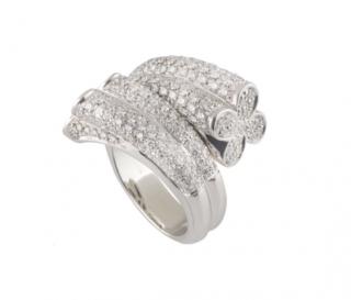 Bespoke White Gold Diamond Wrapped Ring
