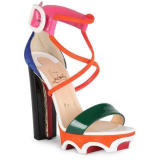 Christian Louboutin Atletika 140 Colorblock Sandals