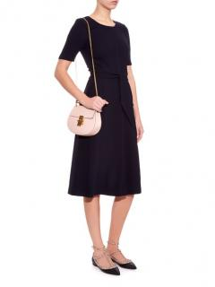 Goat Navy Wool Crepe Blythe Dress