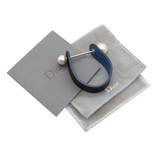 Dior Blue Perles Leather Bracelet
