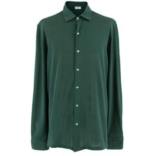 Doriani Green Cotton Long Sleeve Shirt