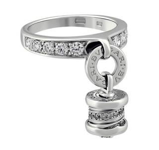 Bvlgari B.zero1 Diamond Dangle Ring