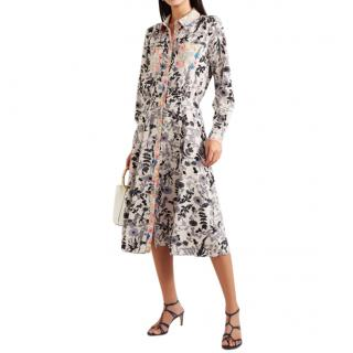 Stine Goya Renee floral-print crepe de chine midi dress