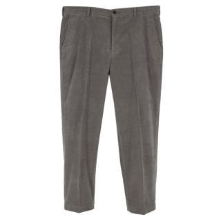 Brooks Brothers Grey Five-Pocket Corduroy Pants