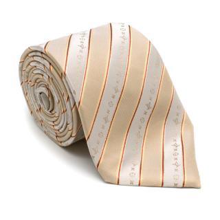 Louis Vuitton Fleur de Monogram Silk Striped Tie