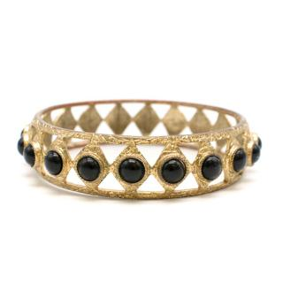 Lulu Frost Gold Tone Embellished Bangle