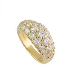 Tiffany & Co Diamond Set Yellow Gold Ring