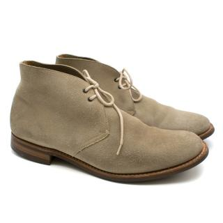 Church's Beige Suede Desert Boots