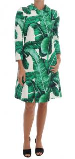 Dolce & gabbana banana leaf print coat