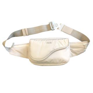 Dior Homme white saddle universal cross body /belt bag