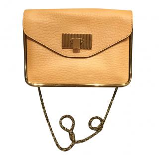 Chloe Yellow Grained Leather Shoulder Bag