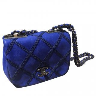 Chanel Blue Quilted Stitch Shoulder Bag