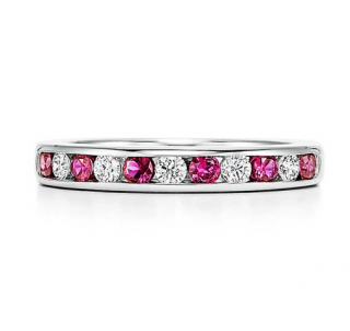 Tiffany & Co. Diamond & Ruby Lucida Band Ring