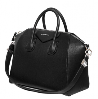 Givenchy Black Medium Antigona Grained Leather Tote