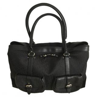 Dior Black Monogram Large Overnight Bag