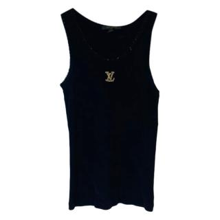 Louis Vuitton Black Ribbed beaded Vest